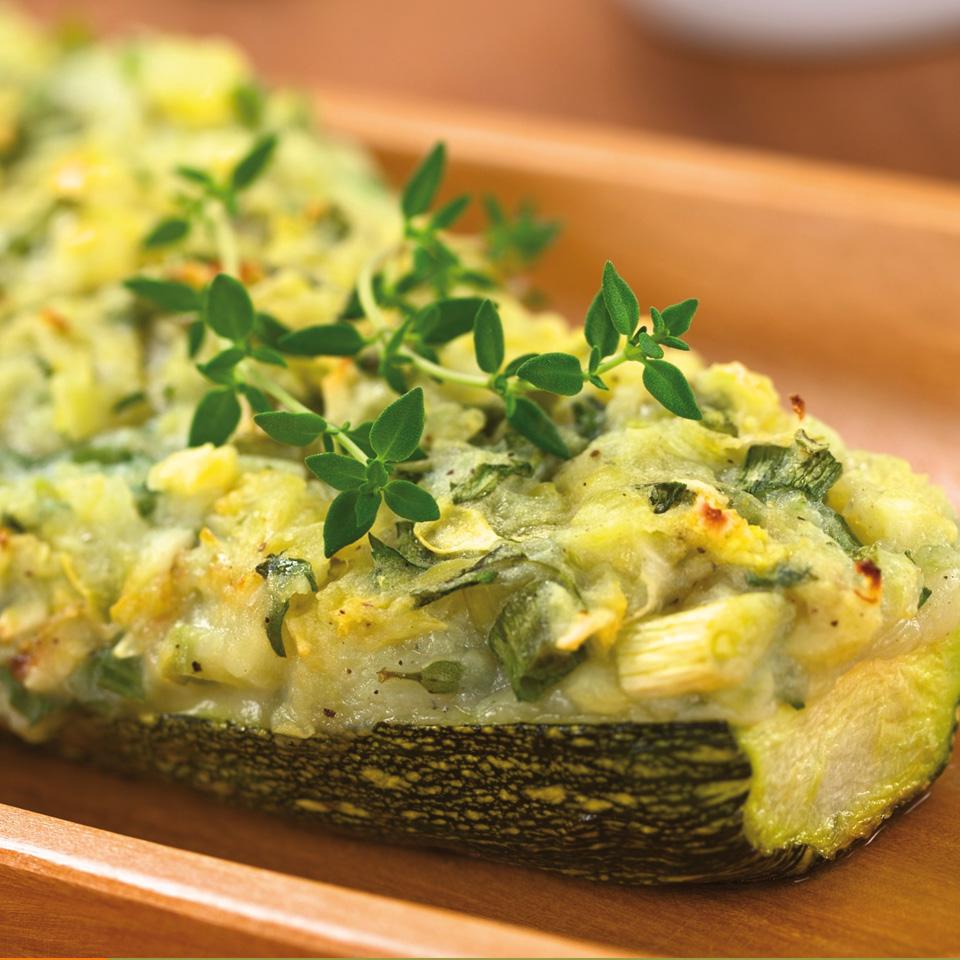 Calabacines rellenos de brócoli