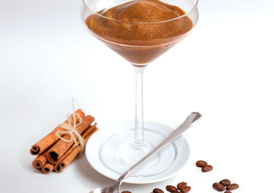 Granizado de café con caramelo y canela