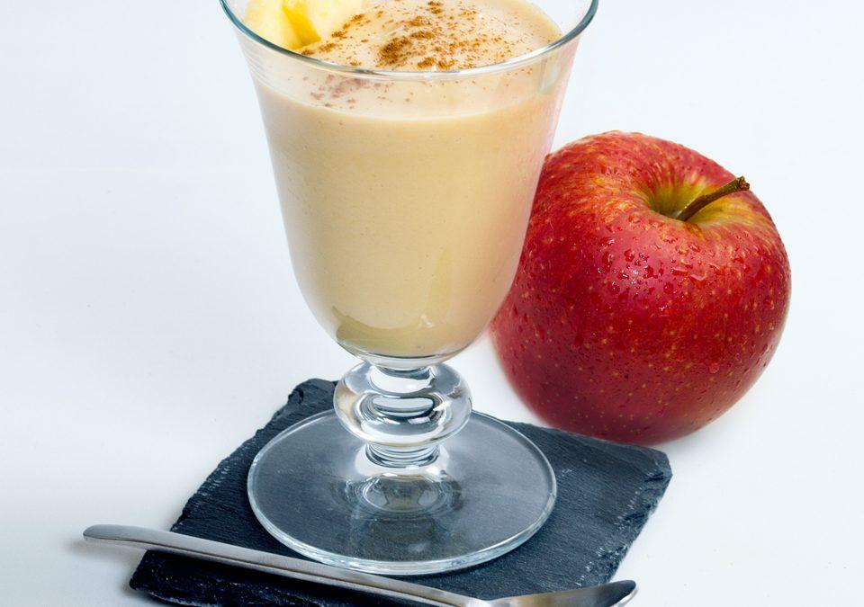 Crema fría de manzana y caramelo