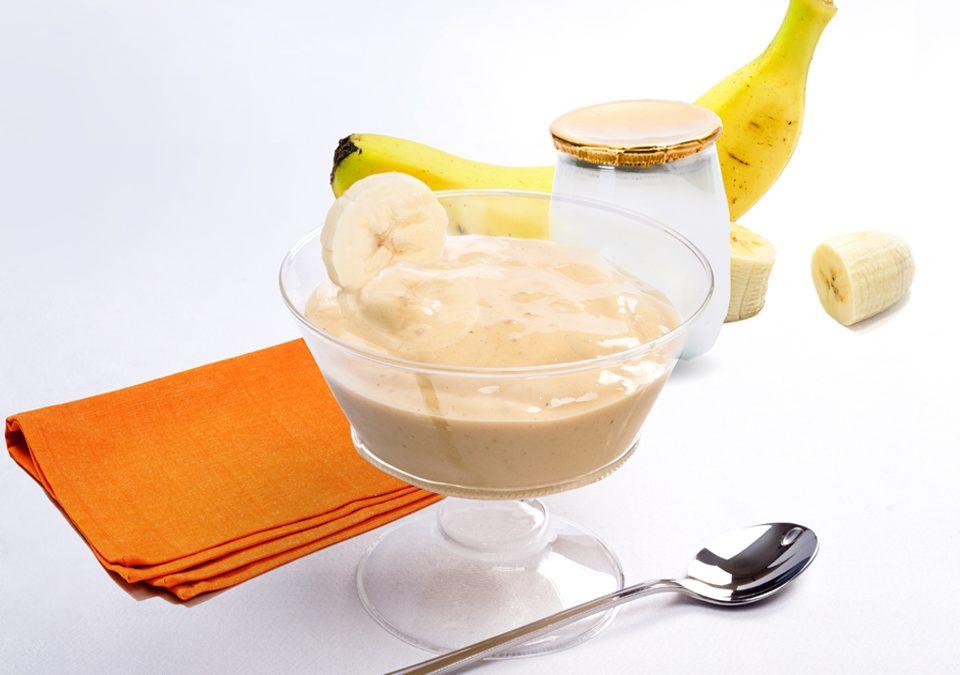 Crema helada de Caramelo y plátano