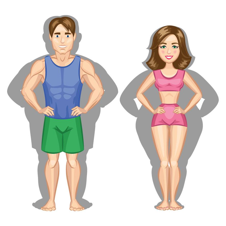 grasa en hombres y mujeres