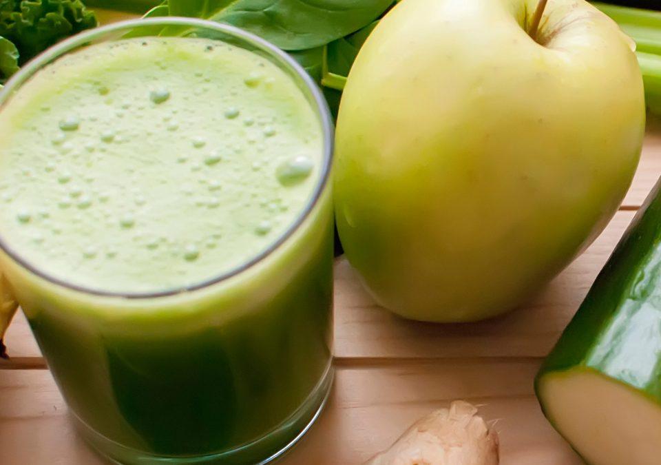 Smoothie de manzana con espinacas