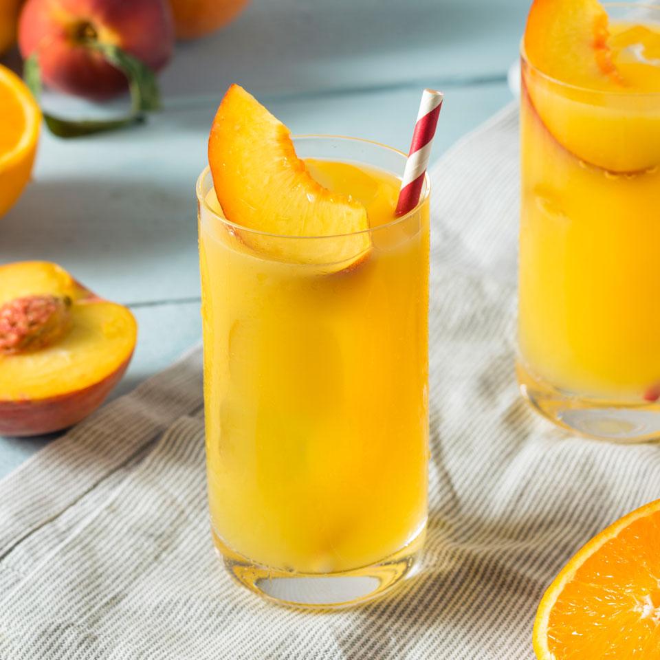 zumo de melocoton y naranja nutricare