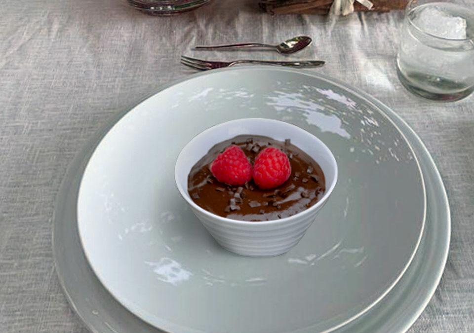 Mousse de chocolate con frambuesa