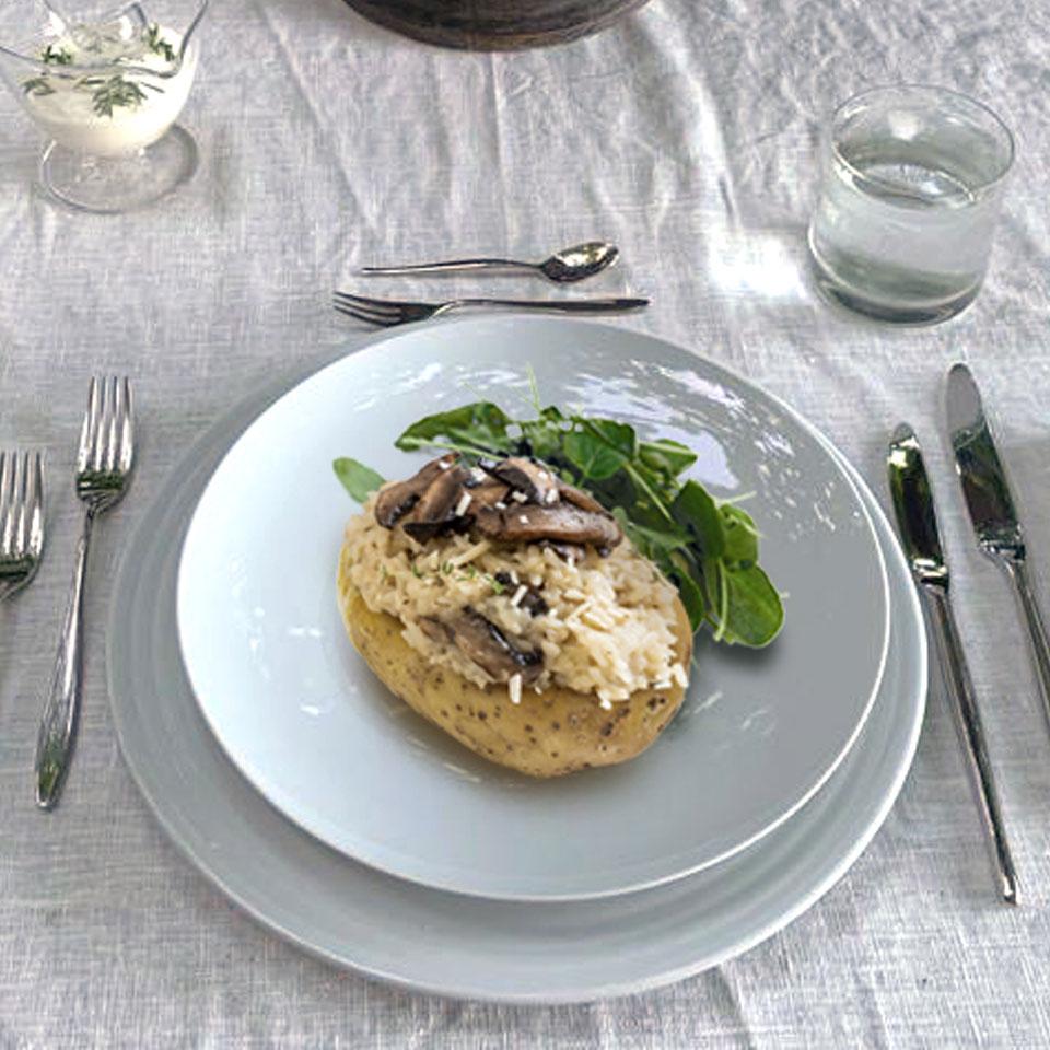 Cuna de Patata con Risotto de Setas NutriCare