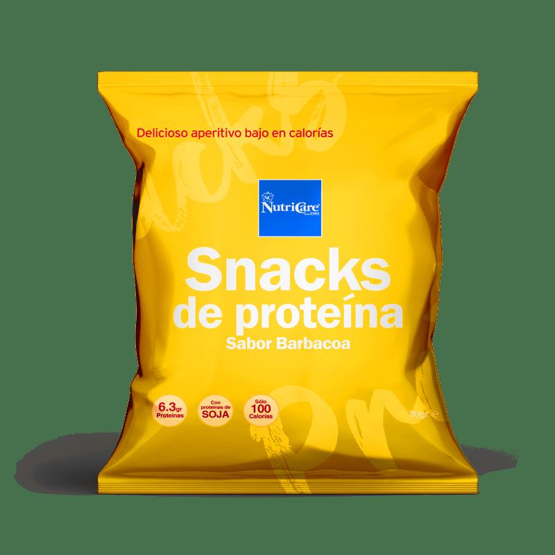 snacks de proteinas sabor barbacoa soja nutricare